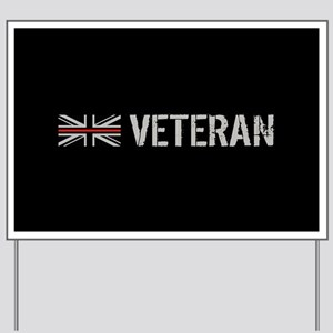 British Flag Red Line: Veteran Yard Sign