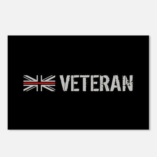 British Flag Red Line: Ve Postcards (Package of 8)