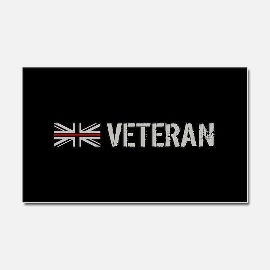 British Flag Red Line: Veteran Car Magnet 20 x 12