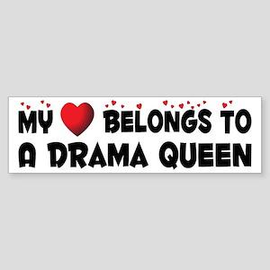 Belongs To A Drama Queen Bumper Sticker