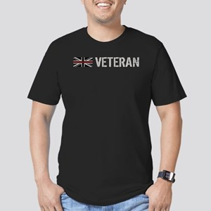 British Flag Red Line: Men's Fitted T-Shirt (dark)