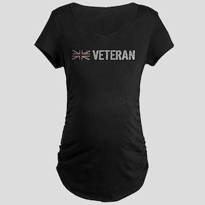 British Flag Red Line: Vete Maternity Dark T-Shirt