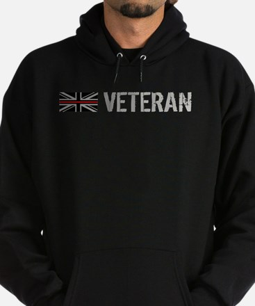 British Flag Red Line: Veteran Hoodie (dark)