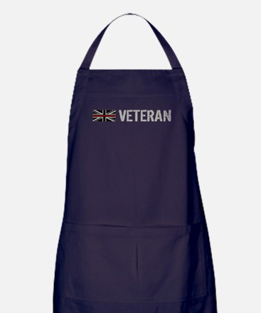 British Flag Red Line: Veteran Apron (dark)