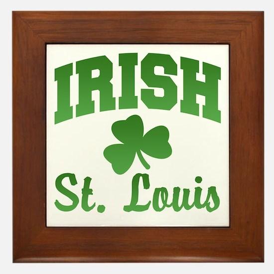 St. Louis Irish Framed Tile