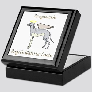 Greyhounds Angels With Fur Coats Keepsake Box