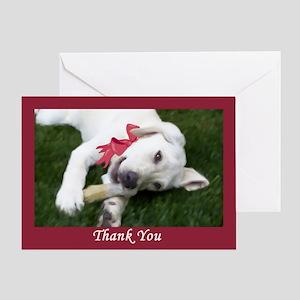 Yellow Labrador Puppy Thank You Card