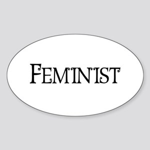 Feminist Oval Sticker