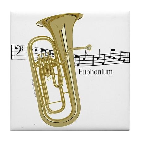 Euphonium Music Tile Coaster