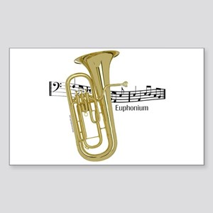 Euphonium Music Rectangle Sticker