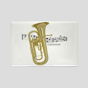 Euphonium Music Rectangle Magnet