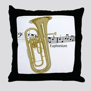 Euphonium Music Throw Pillow