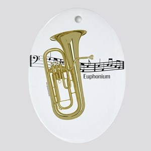 Euphonium Music Oval Ornament