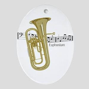 Euphonium Music Oval Ornament
