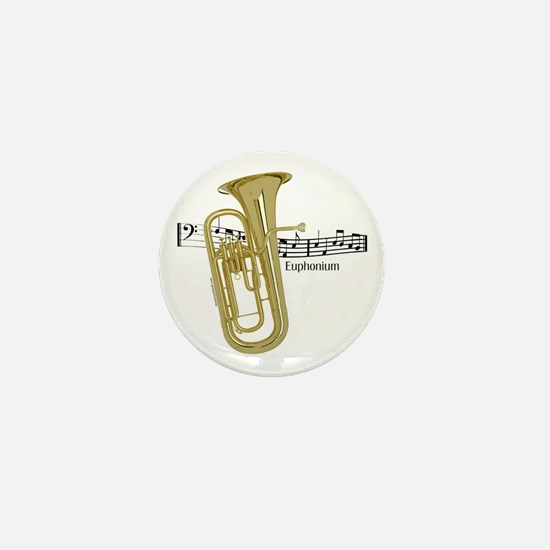 Euphonium Music Mini Button