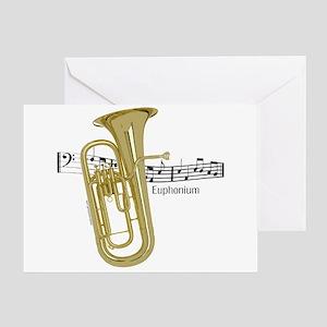 Euphonium Music Greeting Card