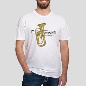 Euphonium Music Fitted T-Shirt