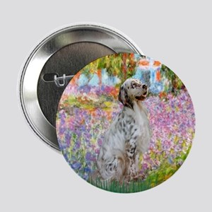 "Garden / English Setter 2.25"" Button"