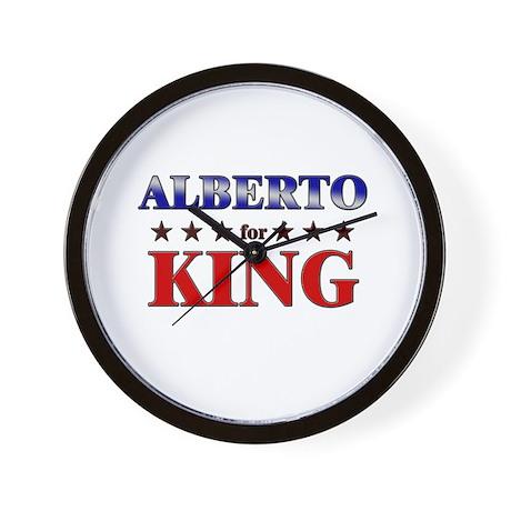 ALBERTO for king Wall Clock