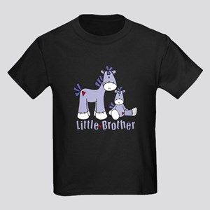 Sock Pony Duo Little Brother Kids Dark T-Shirt