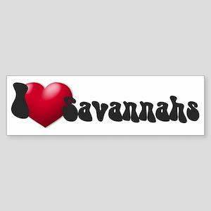 """I Love Savannahs!"" Bumper Sticker"