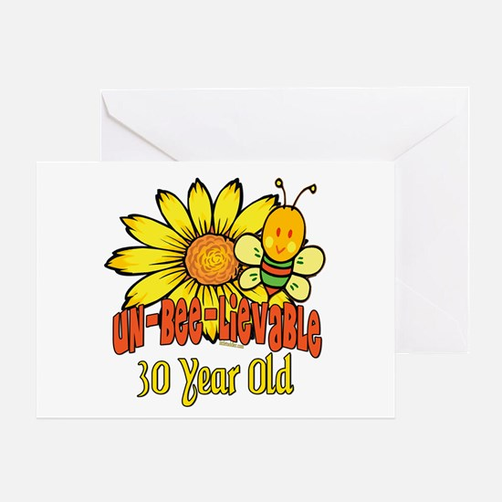 Un-Bee-Lievable 30th Greeting Card