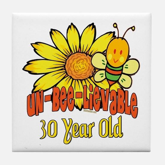 Un-Bee-Lievable 30th Tile Coaster