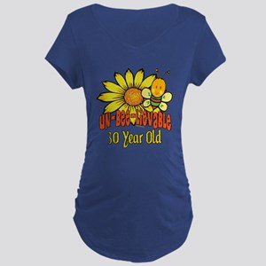 Un-Bee-Lievable 30th Maternity Dark T-Shirt