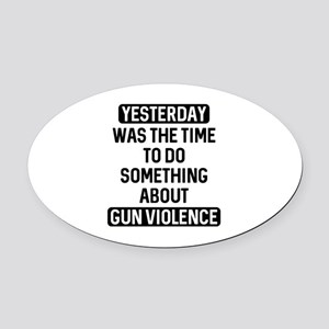 End Gun Violence Now Oval Car Magnet