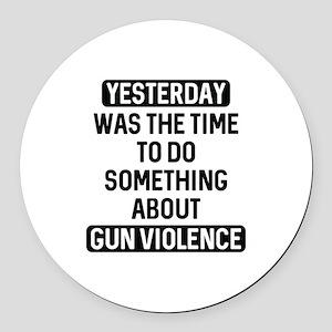 End Gun Violence Now Round Car Magnet