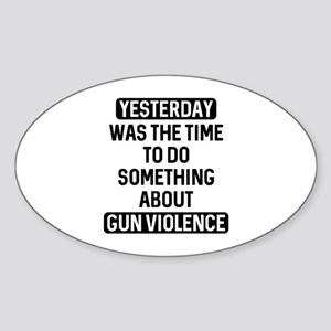 End Gun Violence Now Sticker (Oval)