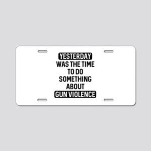 End Gun Violence Now Aluminum License Plate
