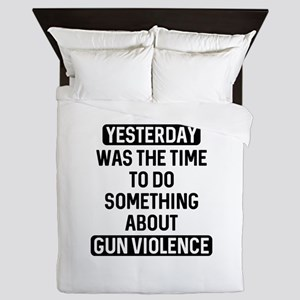 End Gun Violence Now Queen Duvet