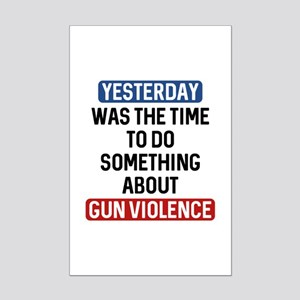 End Gun Violence Now Mini Poster Print