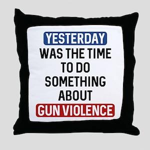 End Gun Violence Now Throw Pillow