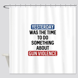 End Gun Violence Now Shower Curtain