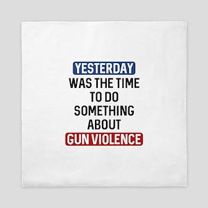 End Gun Violence Now Queen Duvet