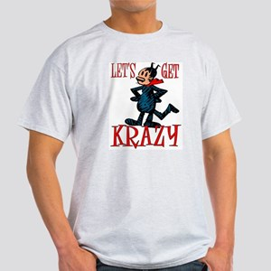 """Get Krazy"" Classic Comic Cat Ash Grey T-Shirt"
