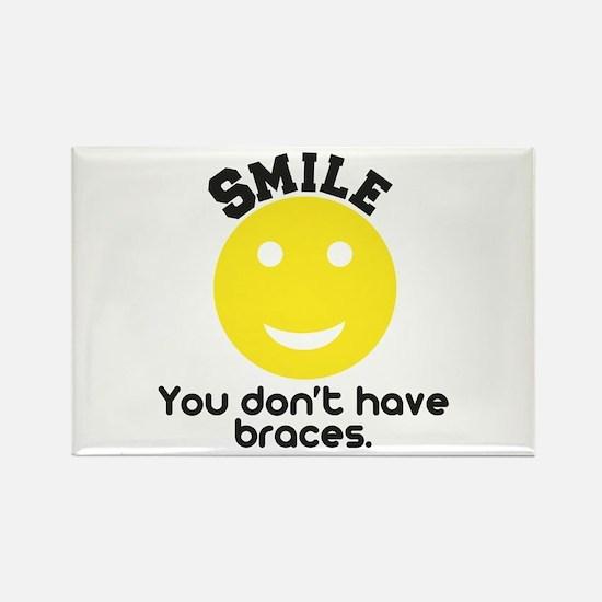 Smile braces Rectangle Magnet