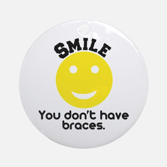 Smile braces Ornament (Round)