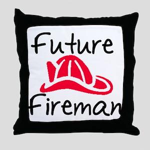 Future Fireman Throw Pillow