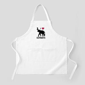 I Love Elephants BBQ Apron