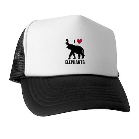 I Love Elephants Trucker Hat