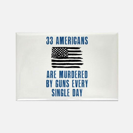 33 Americans Rectangle Magnet