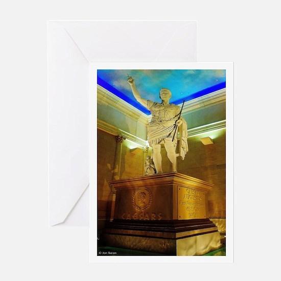 Caesar Augustus Statue Greeting Cards