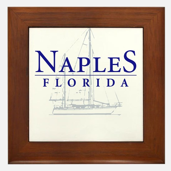 Naples Sailboat - Framed Tile