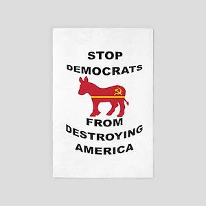 Stop Democrats 4' X 6' Rug
