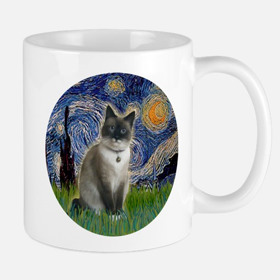 Starry - Snow Shoe Cat Stainless Steel Travel Mugs