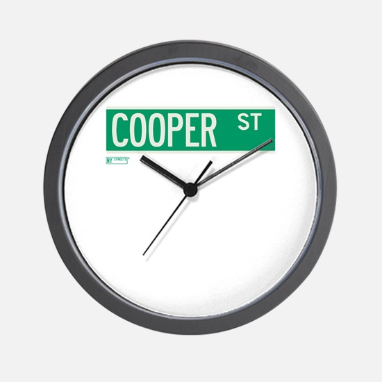 Cooper Street in NY Wall Clock
