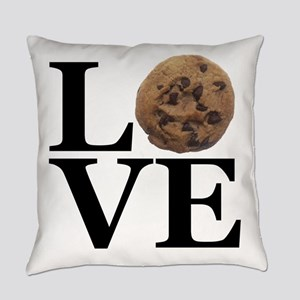 LOVE Chocolate Chip Cookie Everyday Pillow